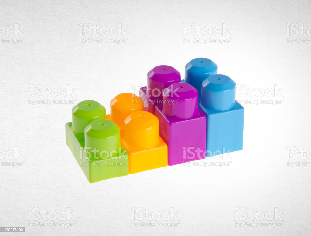 Plastic Building Blocks Or Colour Blocks On A Background Stock Photo -  Download Image Now