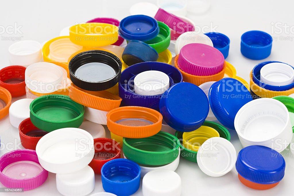Plastic Caps royalty-free stock photo