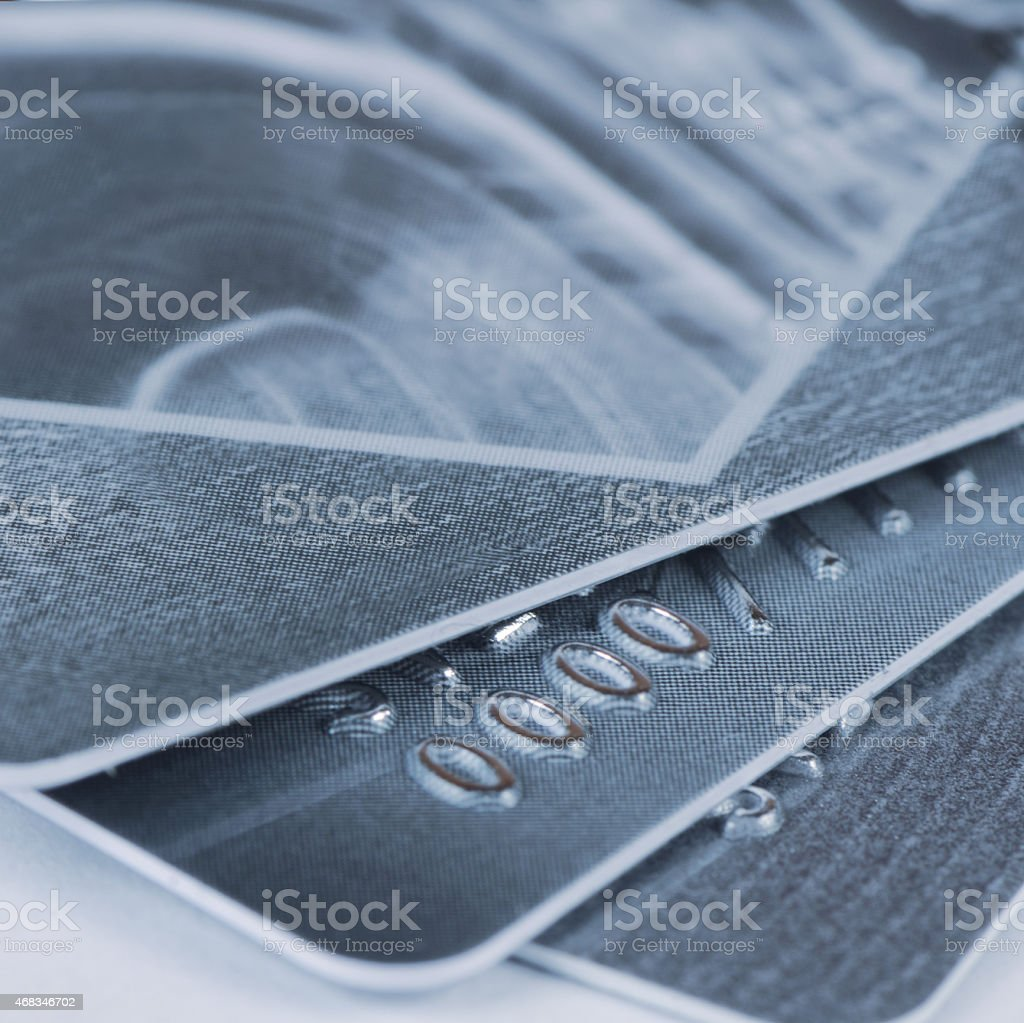 Plastic card isolated on white background royalty-free stock photo