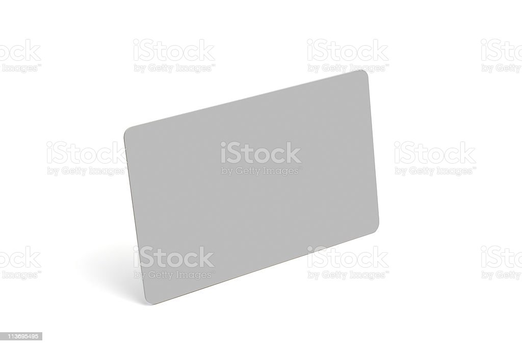 Plastic card, isolated, with clipping path royalty-free stock photo