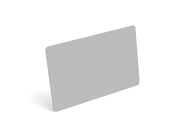 plastic card, isolated, with clipping path - gift voucher or card stock photos and pictures
