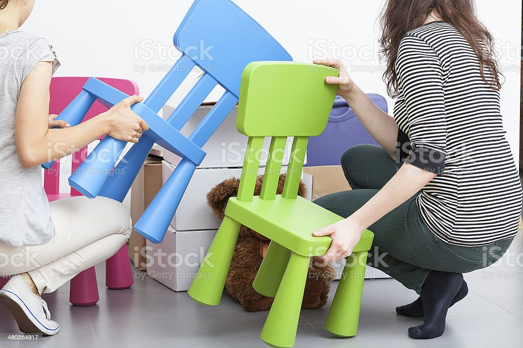 Plastic chairs royalty-free stock photo