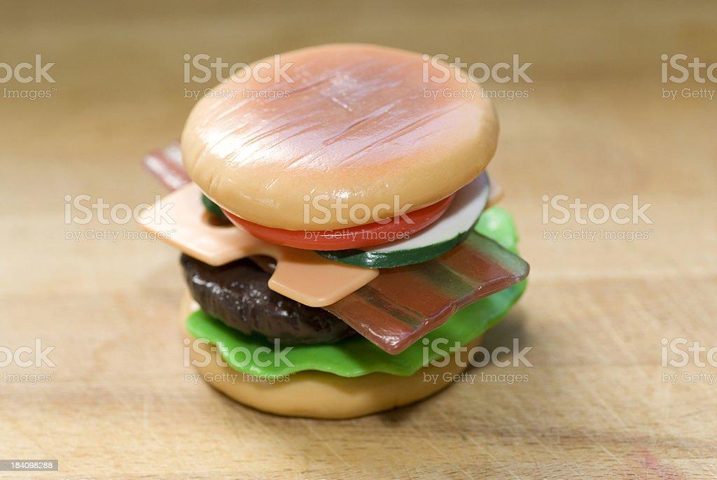 Plastic Cheeseburger stock photo