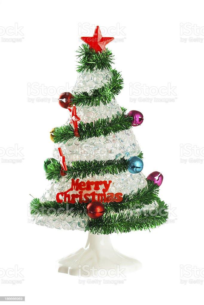 Plastic christmas tree royalty-free stock photo