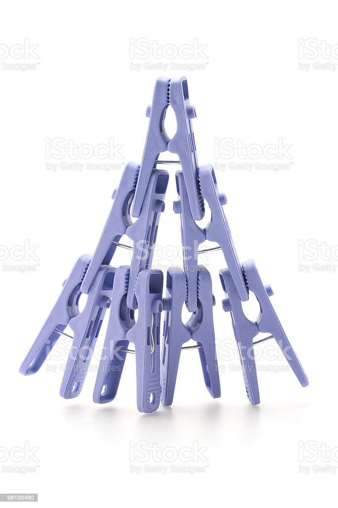 Plastic clothes pegs royalty-free stock photo