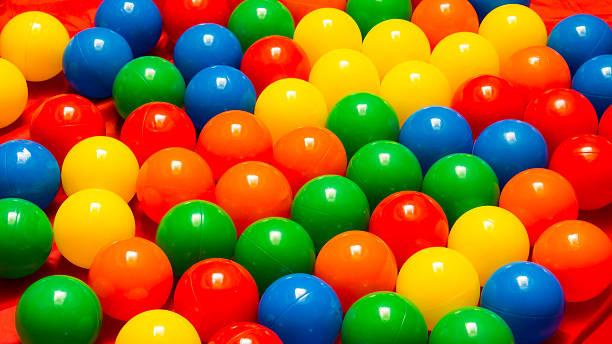 Plastic colorful balls stock photo