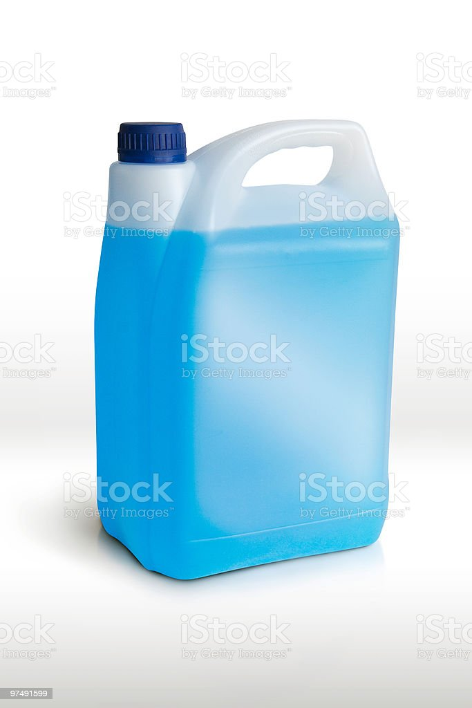 Plastic container, 3/4 view royalty-free stock photo