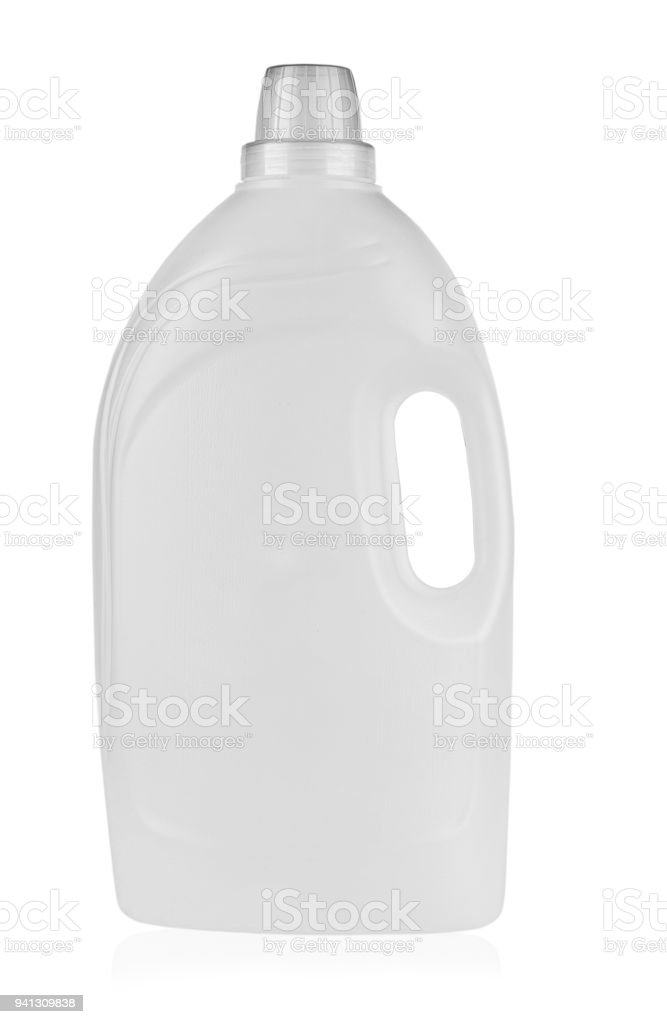 plastic container for detergent stock photo