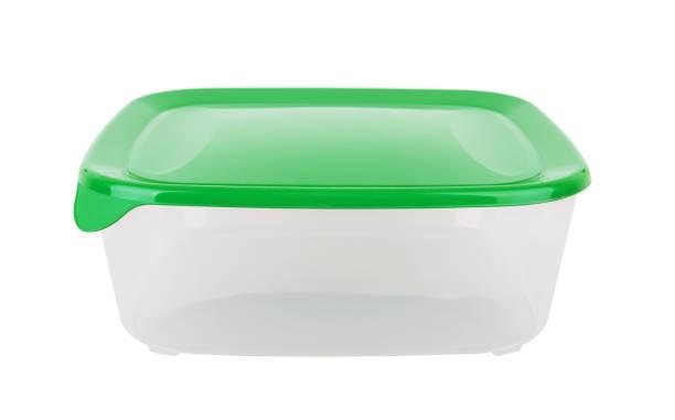 Recipiente de plástico para alimentos - foto de stock