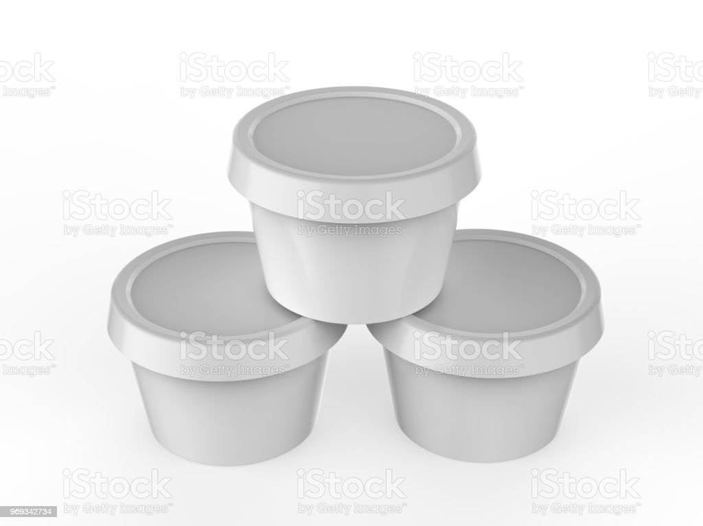 Plastic Container Mock Up For Ice Cream Dessert Yogurt Sour Cream Butter Cheese Or Margarine Spread Ready For Your Design 3d Illustration Stock Photo Download Image Now Istock