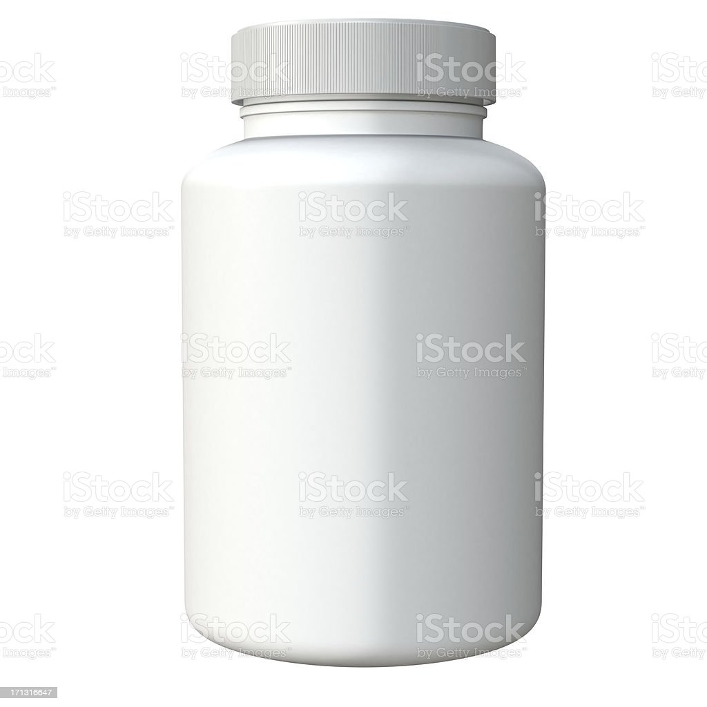 3D plastic container royalty-free stock photo