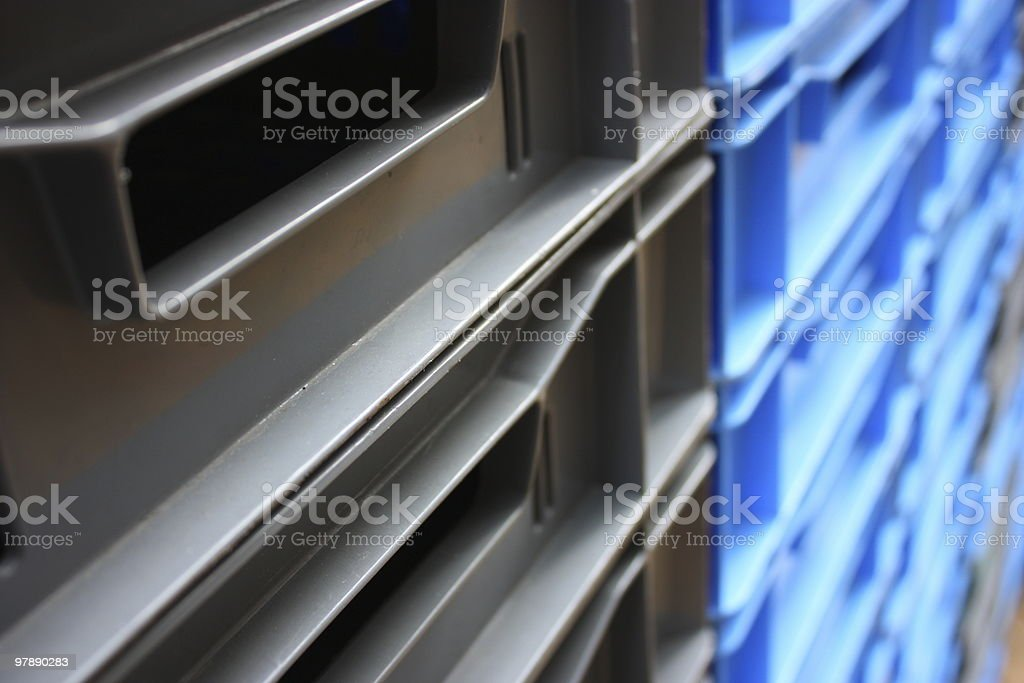 plastic  container pile royalty-free stock photo