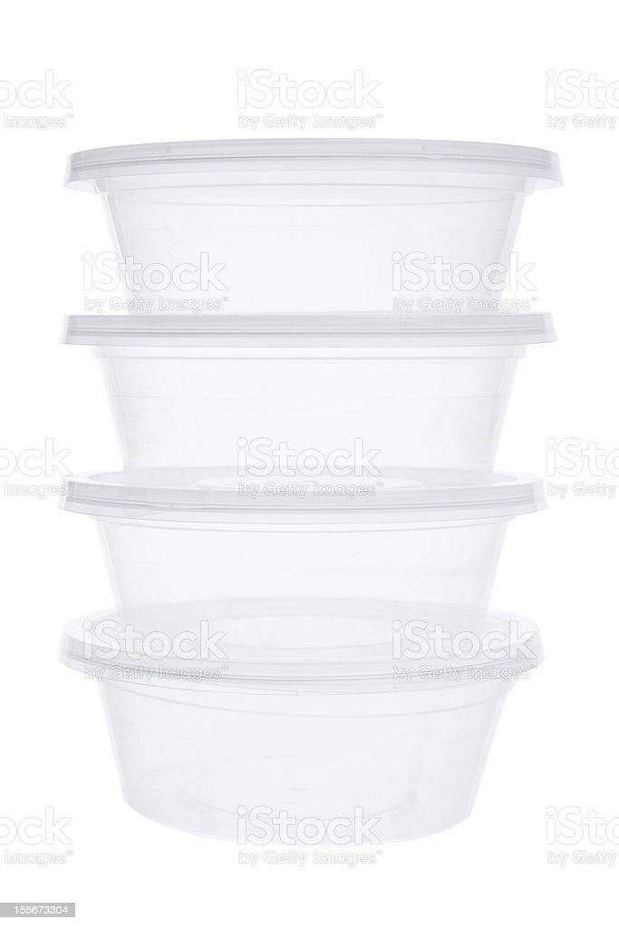 Plastic Containers stock photo