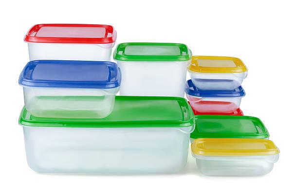Recipientes de plástico - foto de stock
