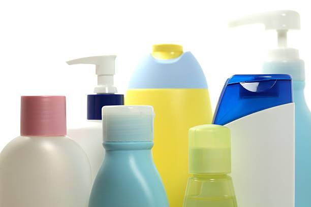 Plastic Cosmetic Bottles stock photo