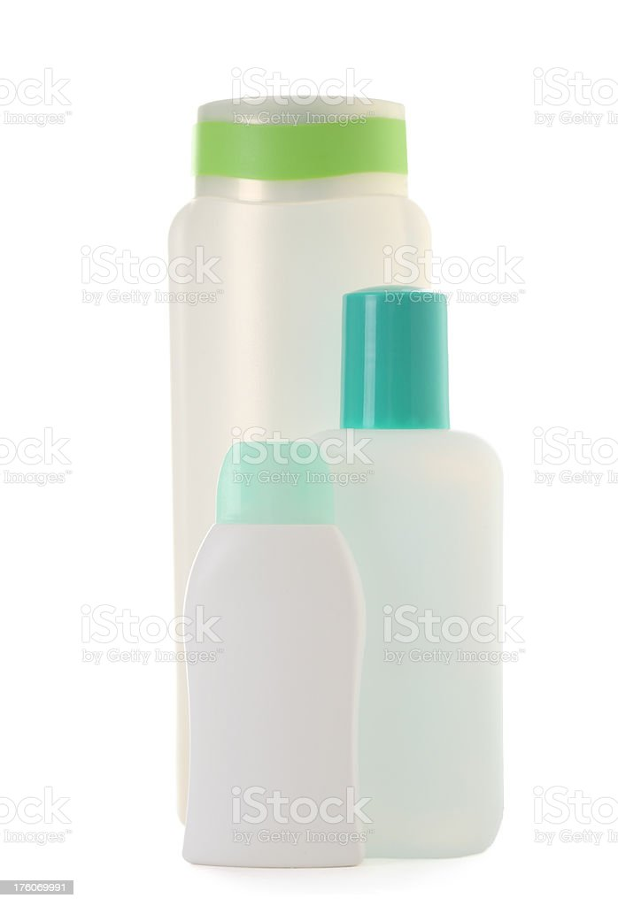 Plastic Cosmetic Bottles royalty-free stock photo