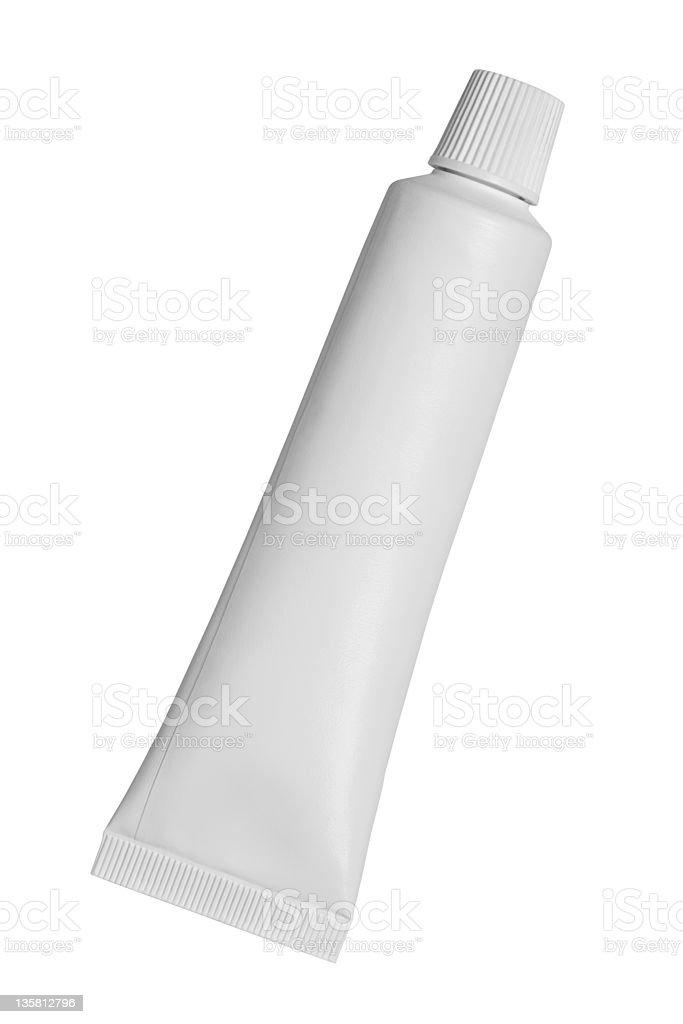 Plastic cosmetics container with cap stock photo