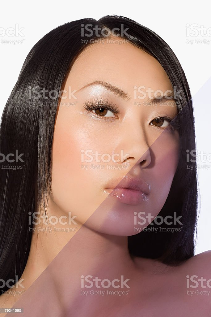 Plastic covering a womans face 免版稅 stock photo