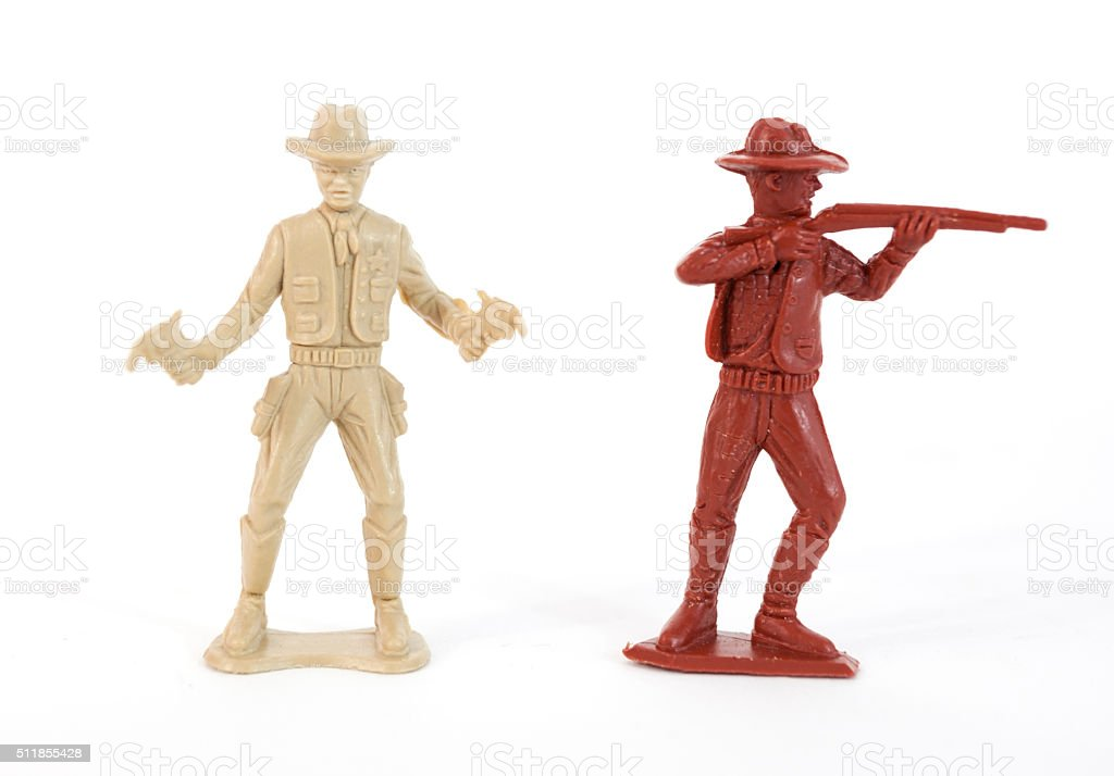 Plastic Cowboys stock photo
