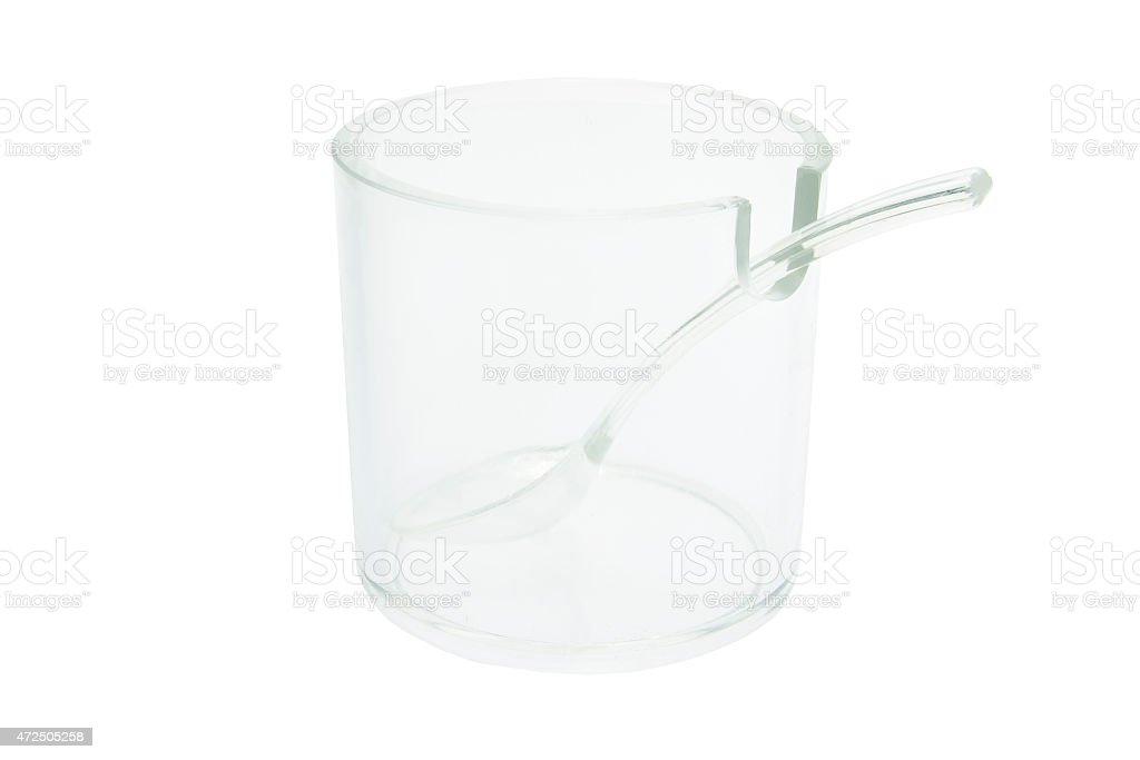 Plastic Cup and Spoon stock photo