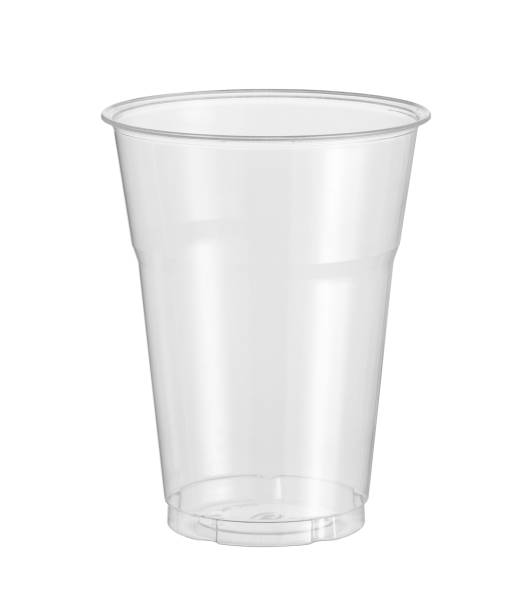 Plastic cup disposable glass stock photo
