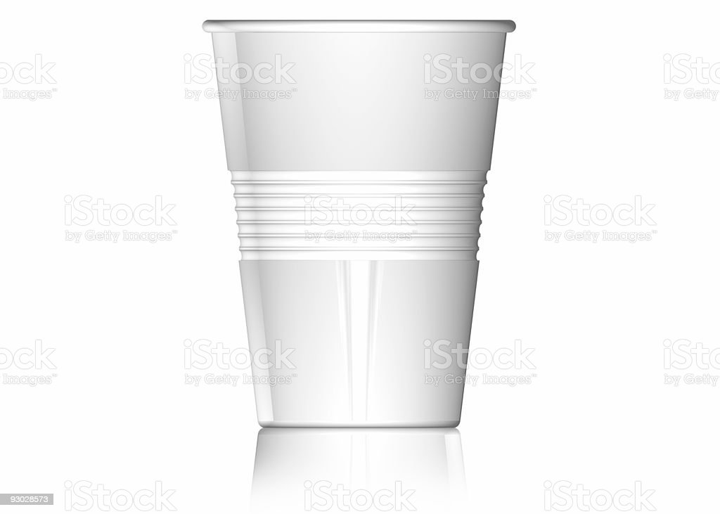 Plastic cup (isolated on white) royalty-free stock photo