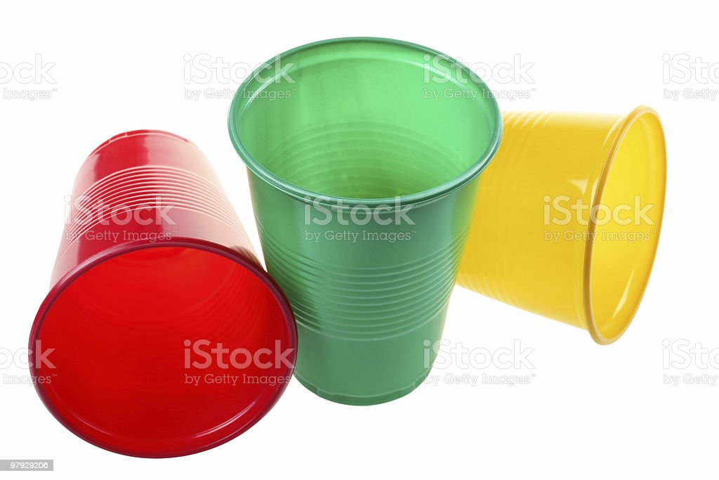 Plastic cup set royalty-free stock photo