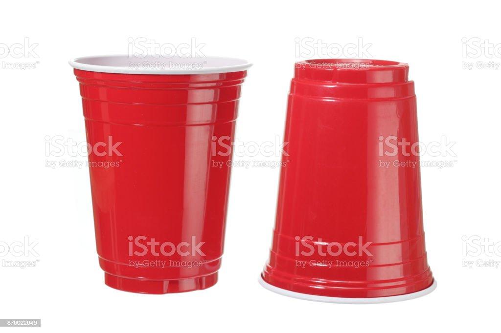Plastic Cups stock photo