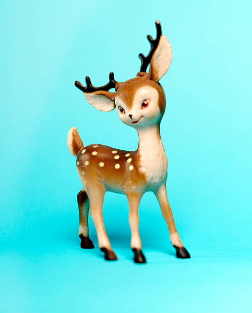 Plastic Deer Decoration stock photo