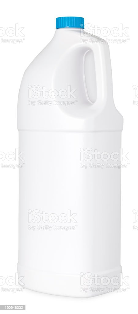 Plastic detergent bottle isolated on white royalty-free stock photo