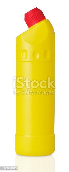 istock Plastic detergent bottle isolated on white 160948643