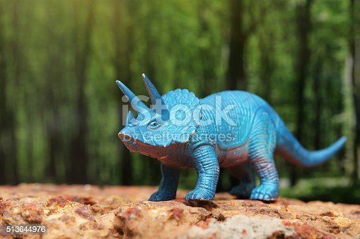 istock Plastic dinosaur toy 513644976