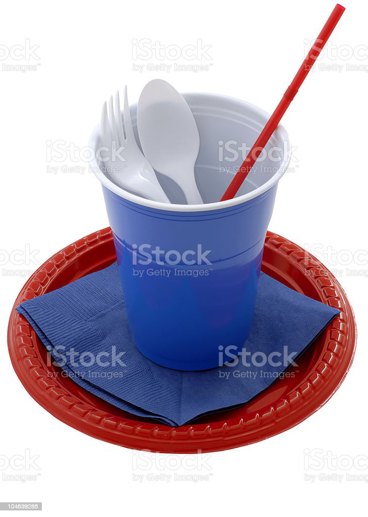 Plastic dishes royalty-free stock photo