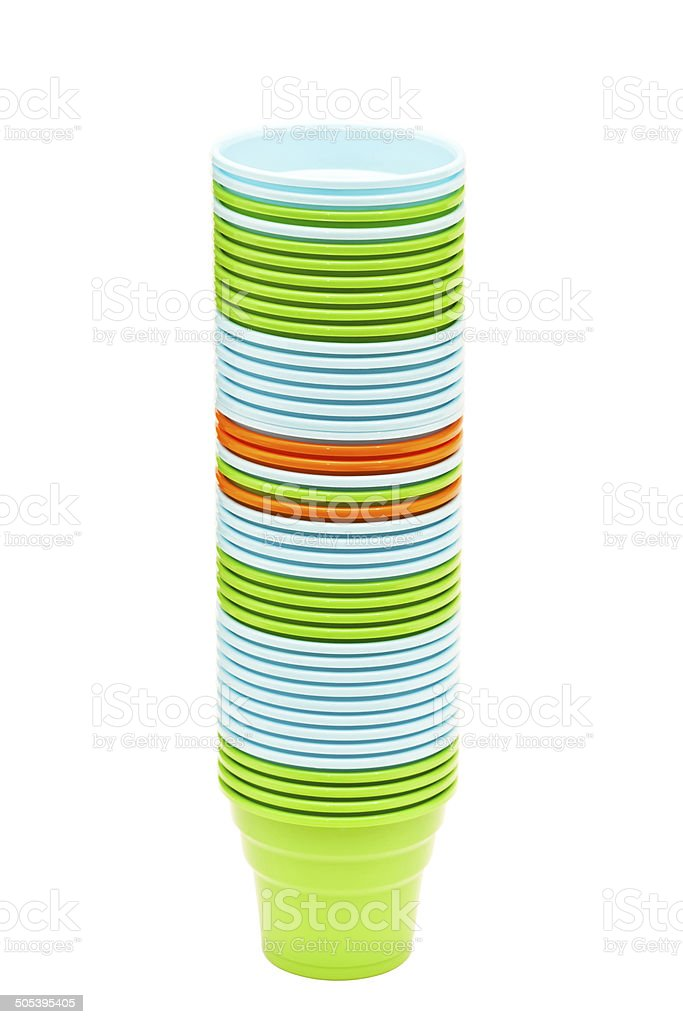 Plastic Dishware royalty-free stock photo