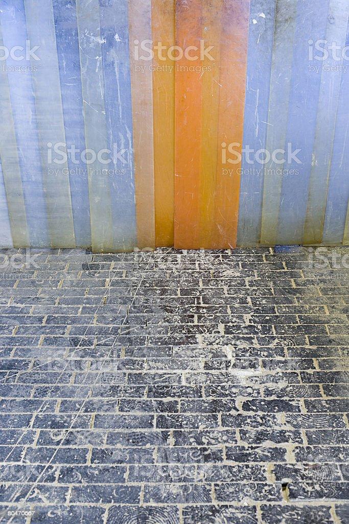 Kunststoff Tür des warehouse Lizenzfreies stock-foto