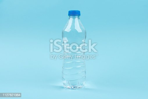 Plastic drink water bottle