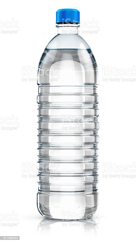 Plastic drink water bottle stock photo