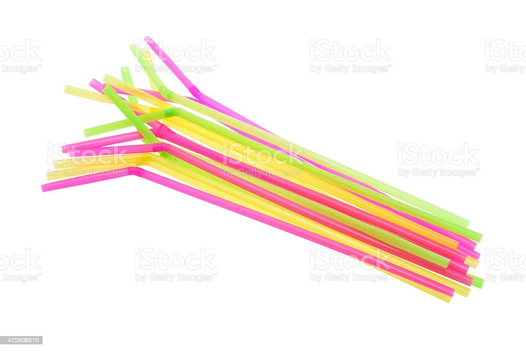 Plastic Drinking Straws stock photo