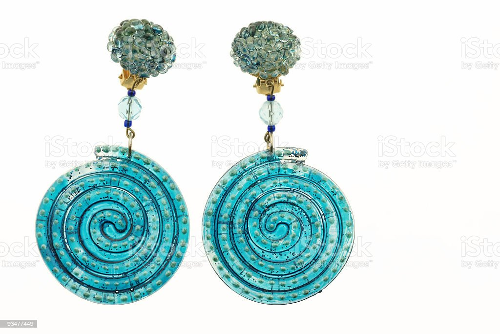 Plastic Earrings royalty-free stock photo