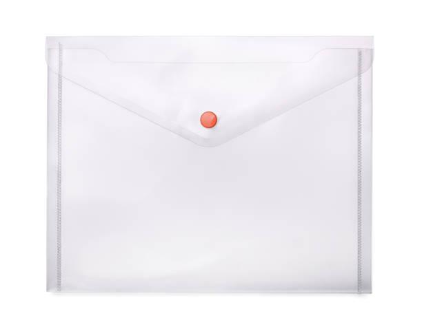 Plastic envelope stock photo