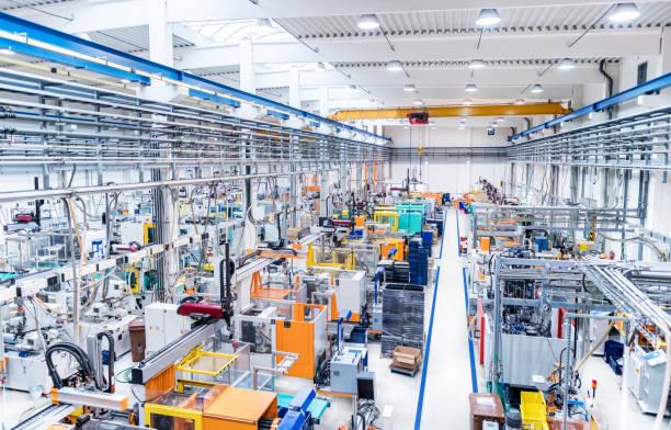 プラスチック工場・機械 ストックフォト