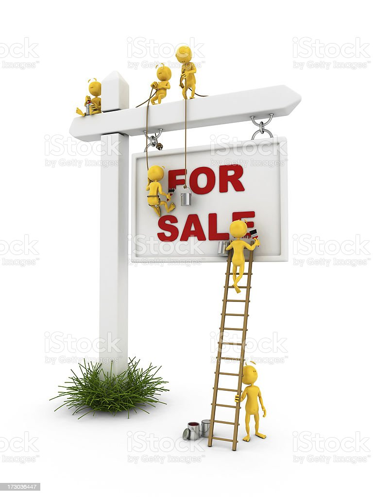 plastic fellow for sale royalty-free stock photo