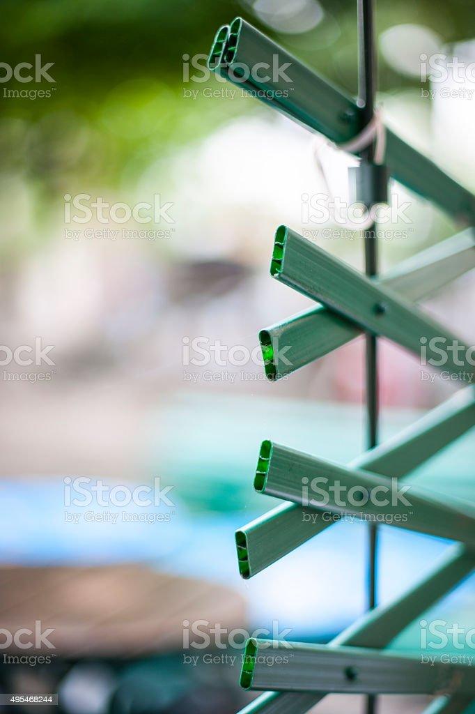 Plastic Fence stock photo