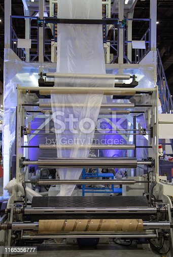 istock Plastic film blowing machine 1165356777