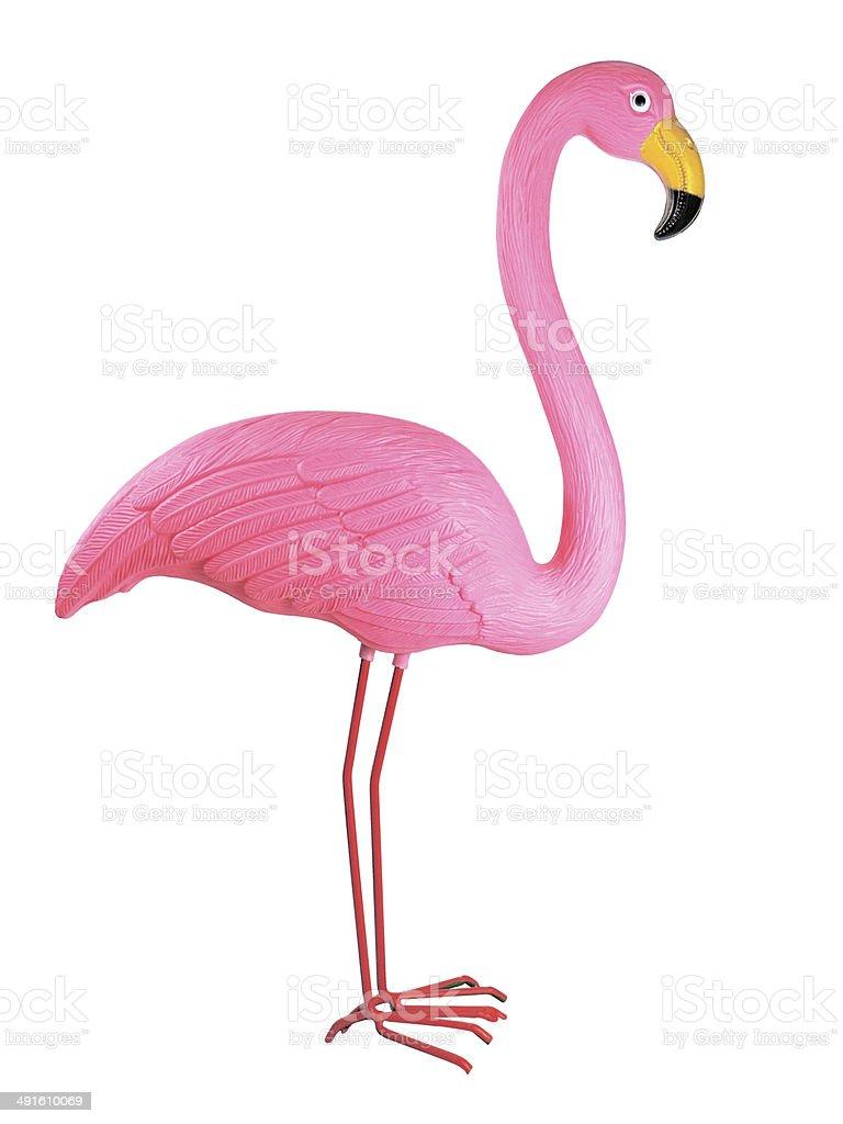 Plastic flamingo stock photo