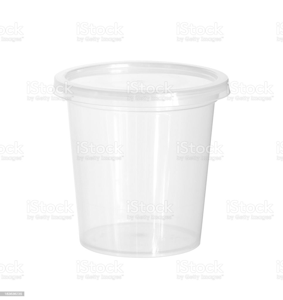Plastic food cup stock photo