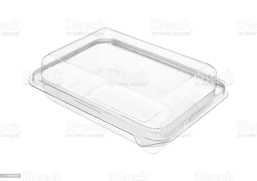 Plastic food package stock photo