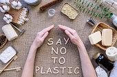 istock Plastic free natural bathroom items 1145641286