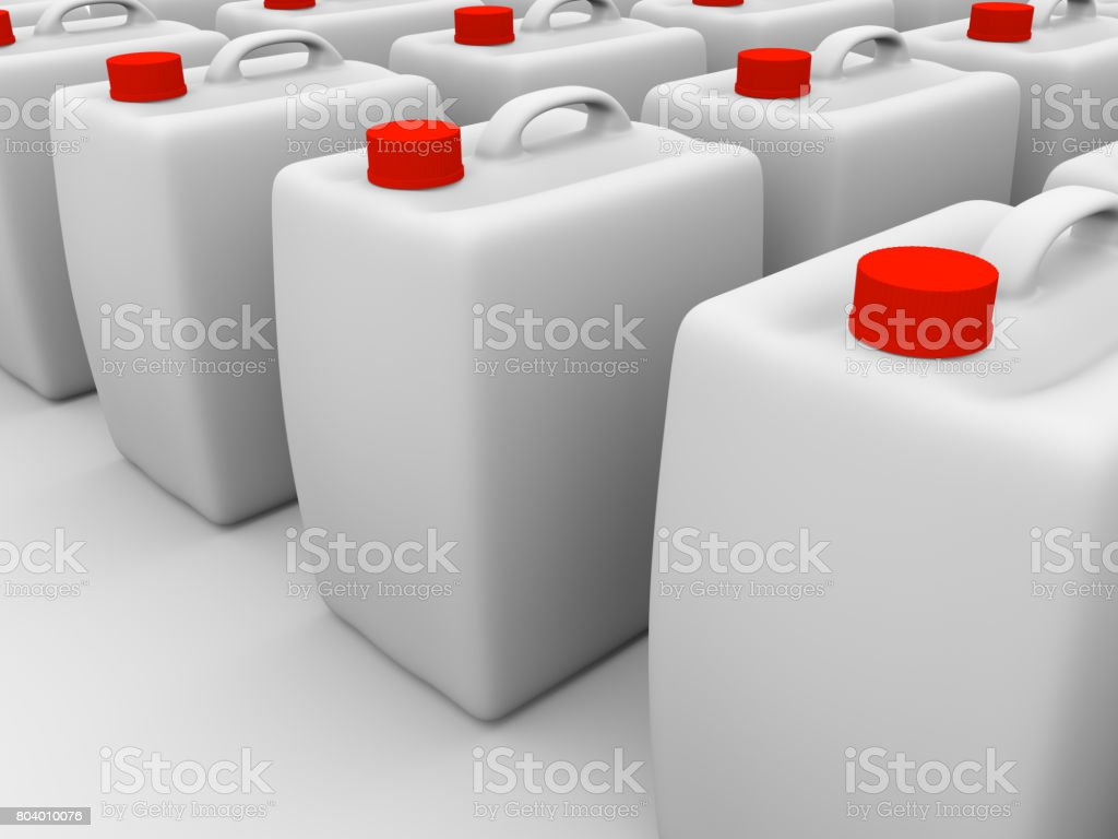 plastic gallons stock photo