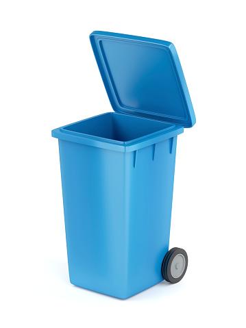 Plast Soptunna På Vit-foton och fler bilder på Avfallsbehållare